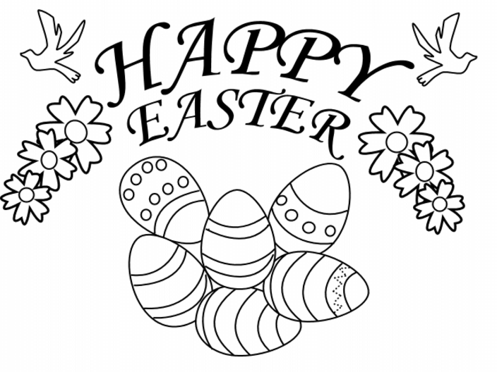 Happy Easter Coloring Images