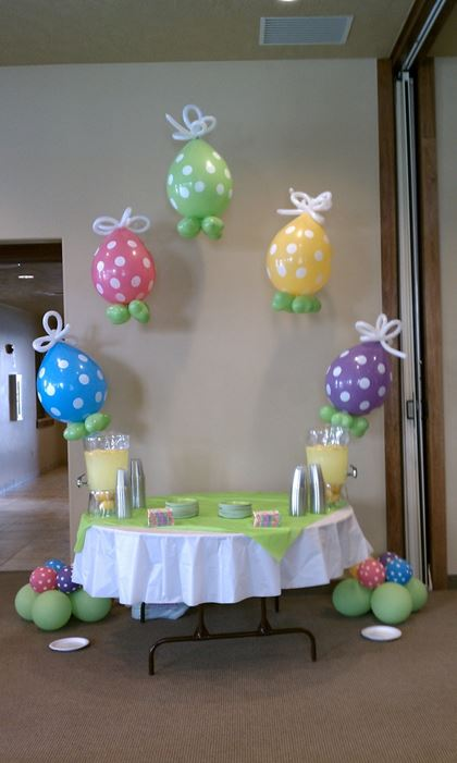 Easter Balloons For Table Decoration