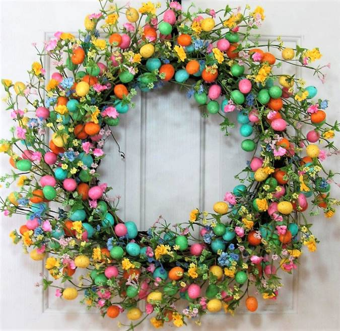 Easter Wreaths Full Of Eggs