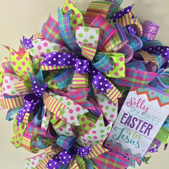 Easter Wreaths With Jesus Name
