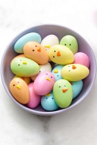 Candy Chicks For Easter Dinner