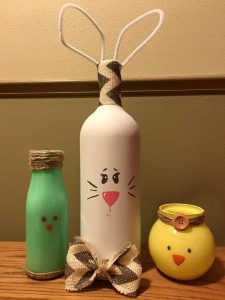 Easter Eve Designed Wine Bottles
