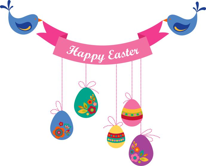 Easter Garland Banners