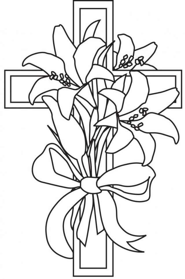 Easter Lily Coloring Sheet