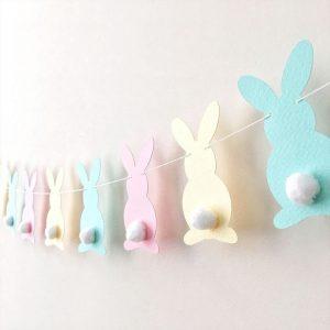 Egg & Bunny Balloons For Garland